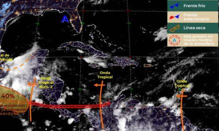 Yucatán: ahora sí sentirás la temporada de lluvias: viene 'tren' de ondas tropicales (video)