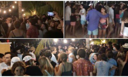 Fiesta de playa en Chicxulub Puerto clausurada con 300 personas