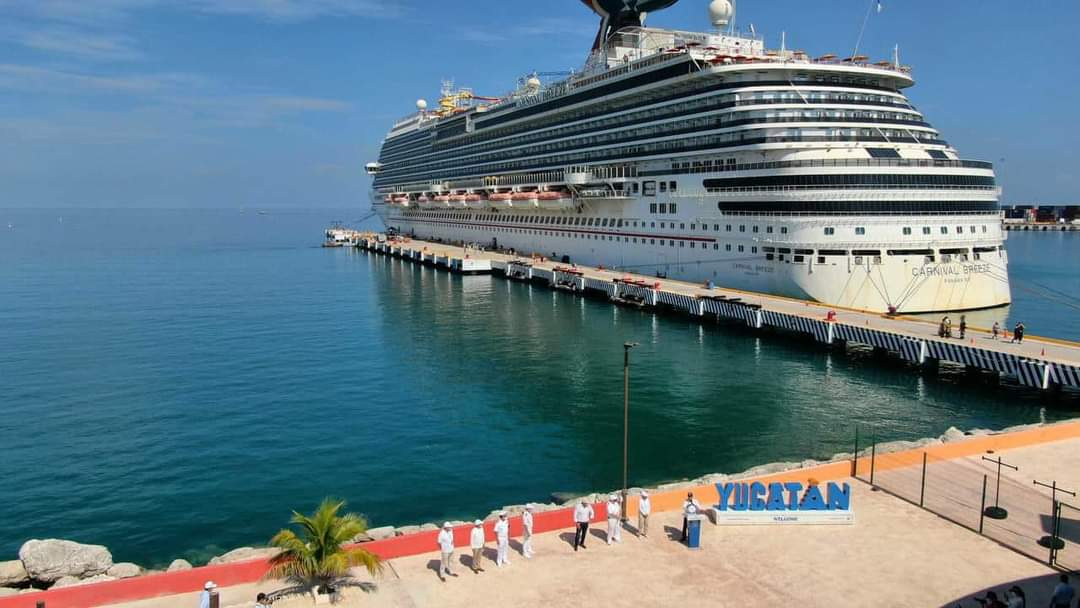 Vuelven cruceros a costa yucateca: Carnival con 4 mil 192 personas