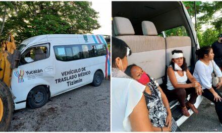 Choque en la Mérida-Tizimín con 1 muerto y cinco lesionados