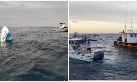 Vuelca lancha con turistas en Isla Mujeres y mueren tres