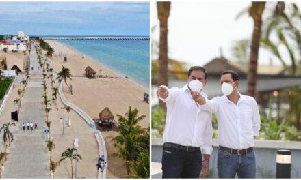 Entregada Segunda etapa de modernización del Malecón de Progreso