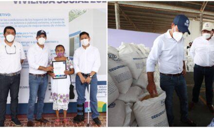 Vila en Akil: certificados de Vivienda y de sacos de maíz para autoconsumo