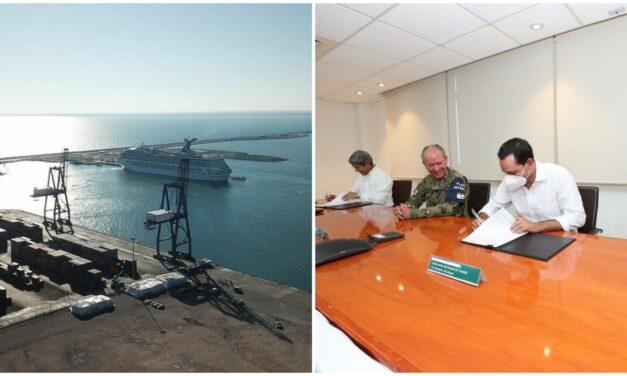 Formalizan convenio para ampliación de Puerto de Altura de Progreso