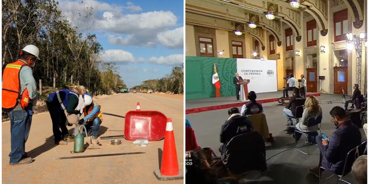 """Exponen a AMLO """"simulación"""" en obras de Tren Maya; lo refuta"""