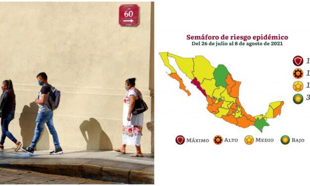 Yucatán y Campeche, en semáforo amarillo; QRoo, en naranja