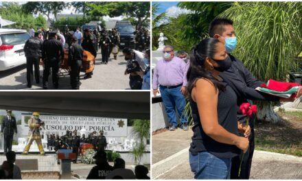 Sentida y cálida despedida al policía Raúl Adrián Couoh Aké