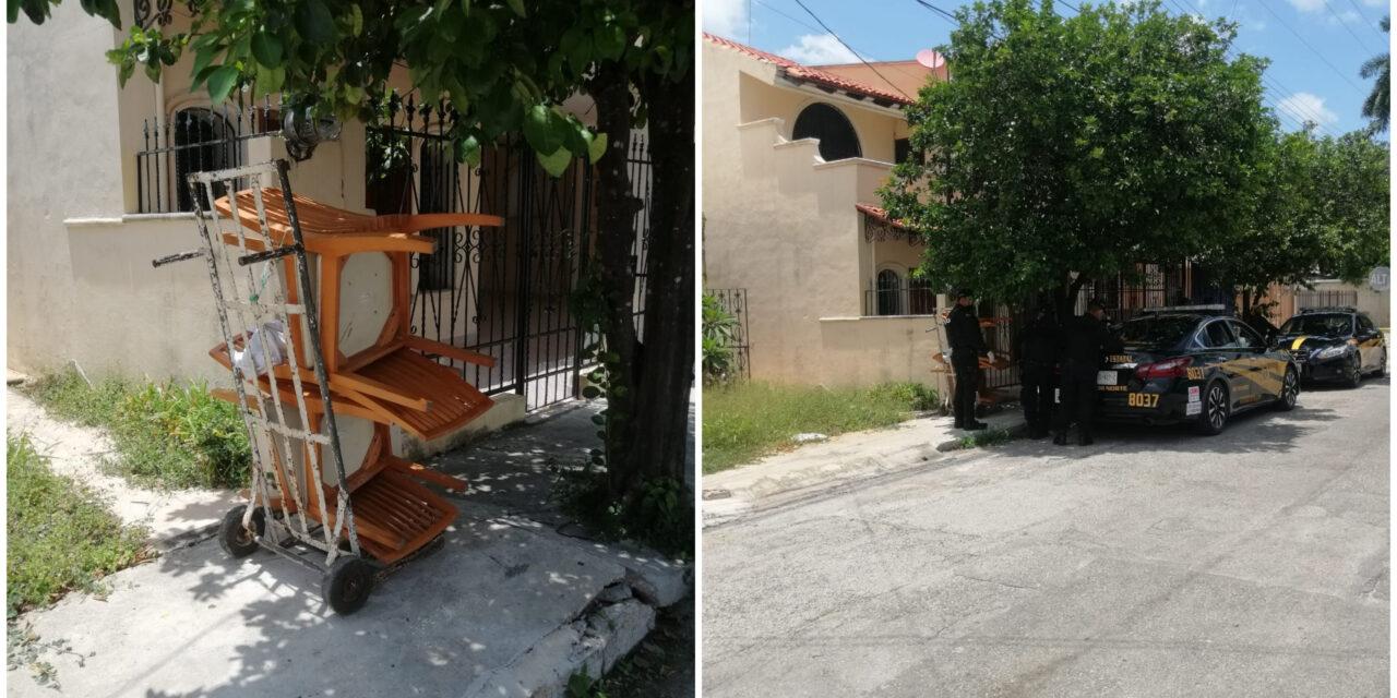 Sorprenden a presunto ladrón con mobiliario de casa en Prado Norte