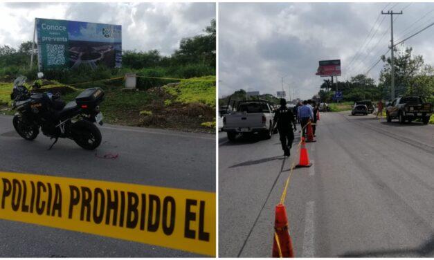 Matan a balazos a policía estatal en Yucatán al perseguir auto