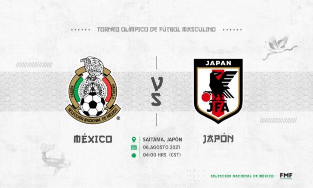 México vs. Japón cambia de horario en Tokio 2020
