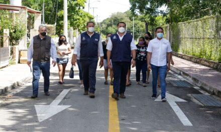 Vialidades, rehabilitación de parque y sistema de riego en San Matías Cosgaya