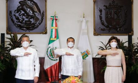 Hablo con amor y verdad: Renán Barrera, en III Informe de Gobierno