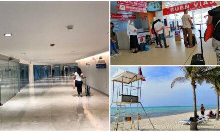 """Cancelan vuelos en Cancún y paran labores en zona de impacto de """"Grace"""" en Quintana Roo"""