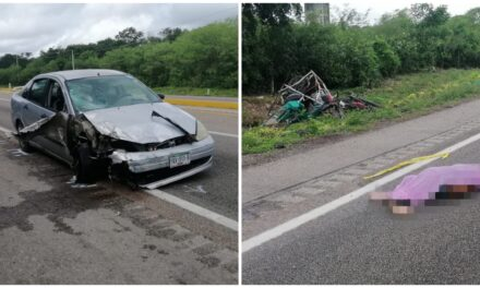 """Auto atropella """"mototaxi"""": muere abuelo y su hija lesionada"""