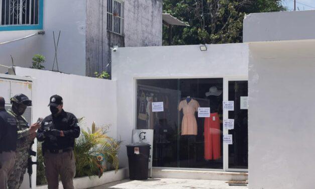 Aparatosos operativo y cateo contra modesta tienda en Cholul
