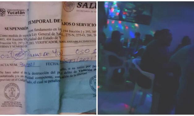 Bar Cesar's y restaurant Las Palmas, clausurados en Mérida por incumplir protocolos