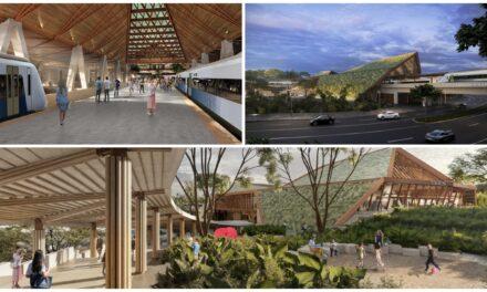 Estación de Tren Maya en Palenque, Chiapas: combina paisaje y cultura regional