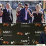 Llegan Penélope Cruz y Antonio Banderas a San Sebastián pidiendo apoyo a la cultura