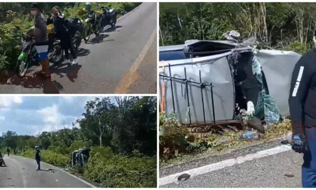 Muere pareja en caravana de motociclistas tras choque con auto