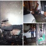 Intenta reparar su vieja motocicleta y se quema toda la casa