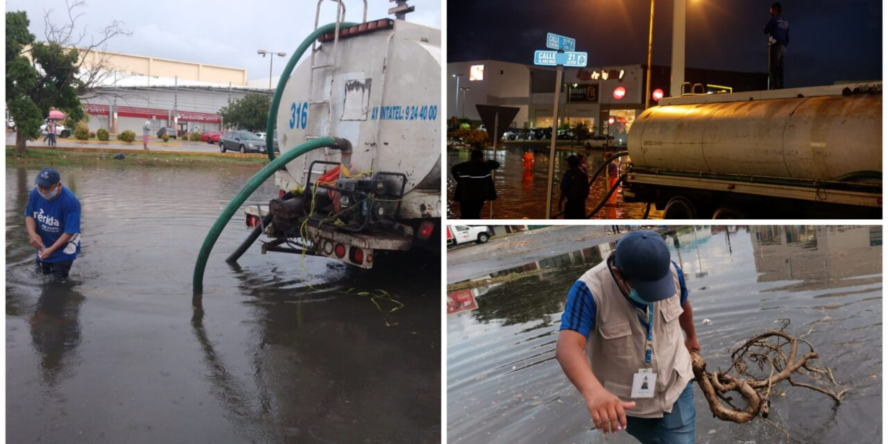 Lluvia de hasta 111.2 milímetros en poniente de Mérida