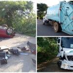 Volcadura y choques con tres hospitalizados en periférico Mérida