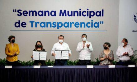 En Semana de Transparencia, Mérida suscribe Declaratoria de Gobierno Abierto